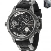 Police Justice League Rubber Strap Gents Watch 14536JQ/02P