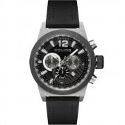 Police Ladbroke Chronograph Black Leather Strap Gents Watch 15529JSTB/02