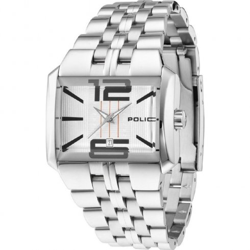 Police Matrix silver dial stainless steel bracelet Mens watch 10812JS-04M