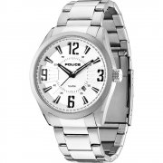 Police Memphis silver dial stainless steel bracelet Mens watch 13893JS-04M