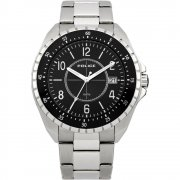 Police Miami black dial stainless steel bracelet Mens watch 13669JS-02M