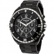 Police Miami black dial stainless steel bracelet Mens watch 13918JSBS-02M