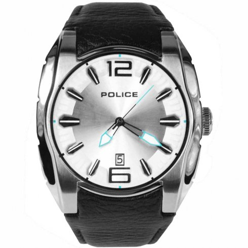 Police New Hampshire black dial leather strap Mens watch 13752JS-04A