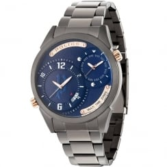 Police Dugite Blue Dial Gun Metal Grey Bracelet Gents Watch 14540JSU/03M
