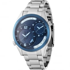 Police Dugite Blue Dial Stainless Steel Bracelet Gents Watch 14540JSTBL/13M