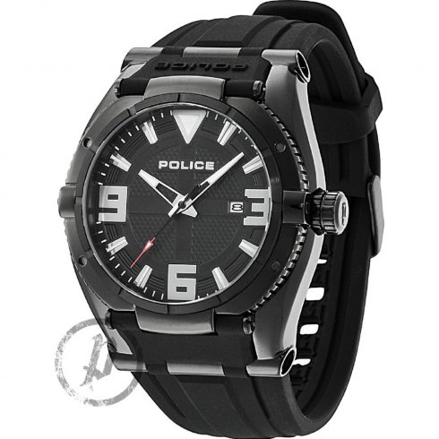 Police Raptor Black Dial Rubber Strap Mens Watch 13093JSB-02