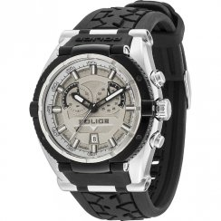 Police Raptor Motobike Chronograph Grey Dial Black Rubber Strap Mens Watch 14215JSTB-13
