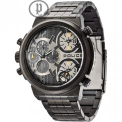 Police Python black dial stainless steel bracelet Mens watch 13595JSB-61M