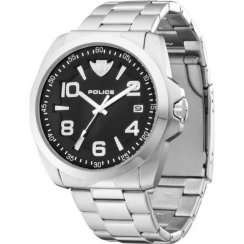 Police Sovereign black dial stainless steel bracelet Mens watch 12157JS-02MC