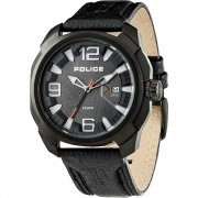 Police Texas black dial leather strap Mens watch 13836JSB-61