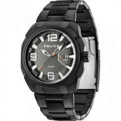 Police Texas gun metal dial stainless steel bracelet Mens watch 13836JSB-61M