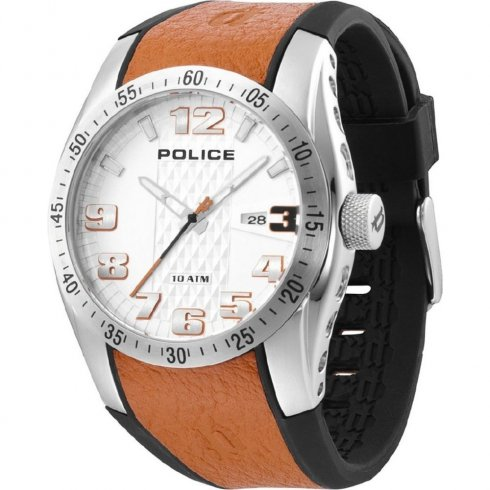 Police Topgear black dial rubber strap Mens watch 12557JS-04C