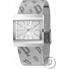 Police Virtue Silver Dial Mesh Strap Ladies Watch 10813BS-04M