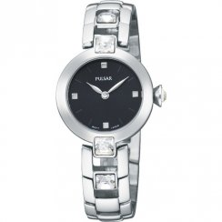 Pulsar Black Dial Stainless Steel Bracelet Ladies Watch PTA419X1