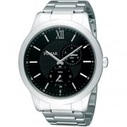 Pulsar Black Dial Stainless Steel Bracelet Mens Watch PW2003X1