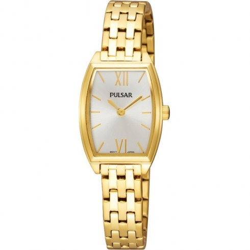Pulsar champagne dial stainless steel bracelet Ladies watch PEGE20X1