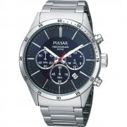 Pulsar Chronograph Blue Dial Stainless Steel Bracelet Gents Watch PT3003X1
