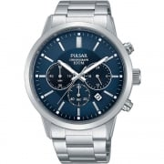 Pulsar Chronograph Blue Dial Stainless Steel Bracelet PT3741X1