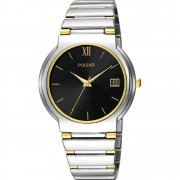 Pulsar Classic Black Dial Stainless Steel Bracelet Gents Watch PXH563X1