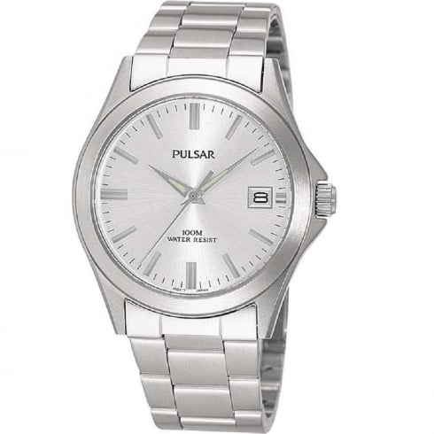 Pulsar Classic Silver Dial Stainless Steel Bracelet Gents Watch PXH093X1