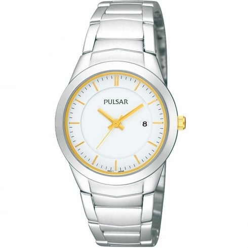 Pulsar Classic White Dial Stainless Steel Bracelet Ladies Watch PH7285X1
