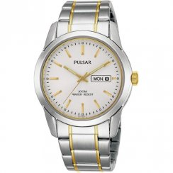Pulsar Classic White Dial Two Tone Bracelet Gents Watch PJ6023X1