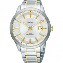 Pulsar Classic White Dial Two Tone Bracelet Gents Watch PXH723X1