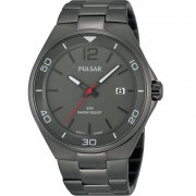 Pulsar Grey Dial Gun Metal Grey Bracelet Gents Watch PS9327X1