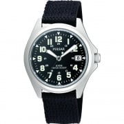 Pulsar Military Black Dial Nylon Strap Gents Watch PS9045X1