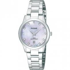 Pulsar Mother of Pearl Dial Chrome Bracelet Ladies Watch PH7311X1