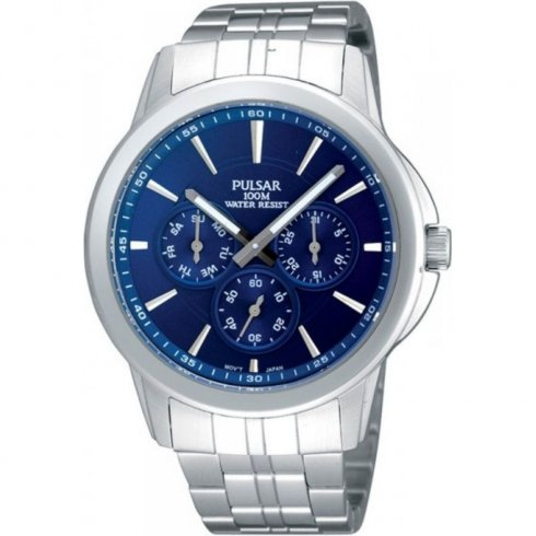 Pulsar None blue dial stainless steel bracelet Mens watch PP6011