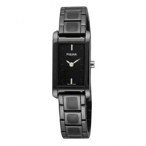 Pulsar Enamel black dial stainless steel bracelet Ladies watch PEGF41