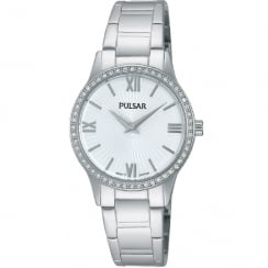 Pulsar White Dial Stainless Steel Bracelet Ladies Watch PM2171X1
