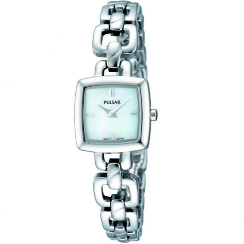 Pulsar White Dial Stainless Steel Bracelet Ladies Watch PEGG59X1