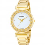 Pulsar  white dial stainless steel bracelet Ladies watch PH8104X1