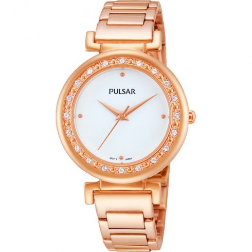 Pulsar white dial stainless steel bracelet Ladies watch PH8106X1