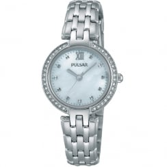 Pulsar White Dial Stainless Steel Bracelet Ladies Watch PH8163X1