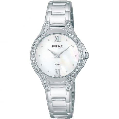 Pulsar White Dial Stainless Steel Bracelet Ladies Watch PM2173X1