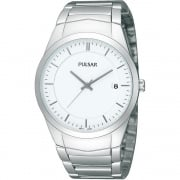 Pulsar  white dial stainless steel bracelet Mens watch PS9151