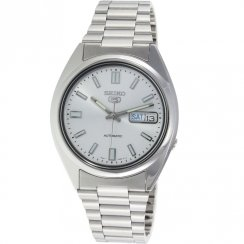 Seiko 5 Automatic Silver Dial Stainless Steel Bracelet Gents Watch SNXS73