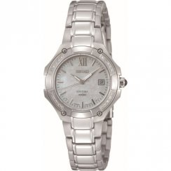 Seiko Coutura Diamond White MOP Dial Stainless Steel Bracelet Ladies Watch SXDA81P1