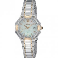 Seiko Coutura Diamond White MOP Dial Two Tone Bracelet Ladies Watch SXDA82P1