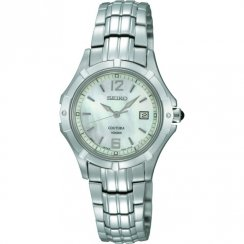 Seiko Silhouette mother of pearl dial stainless steel bracelet Ladies watch SXDE07P1