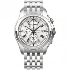 Seiko  silver dial chronograph stainless steel bracelet Mens watch SNAE29P1