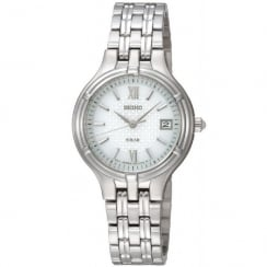 Seiko  white dial stainless steel bracelet Ladies watch SUT015P1