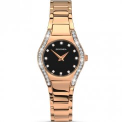 Sekonda Aurora Black Dial Rose Gold Bracelet Ladies Watch 2200