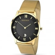 Sekonda Black Dial Gold Mesh Bracelet Gents Watch 1064