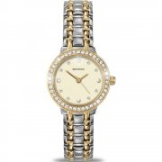 Sekonda Champagne Pearl Cream Dial Two Tone Bracelet Ladies Watch 4689