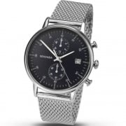 Sekonda Chronograph Black Dial Mesh Strap Gents Watch 1195