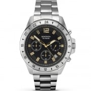 Sekonda Chronograph Black Dial Stainless Steel Bracelet Gents Watch 1134